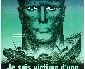 Je suis victime d'une indiscrétion. Affiche de la Seconde Guerre mondiale. Image libre de droits.