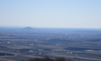 La vue depuis le mont Saint-Grégoire.