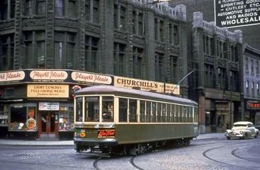 Tramways montréalais. Image de l'époque, libre de droits.