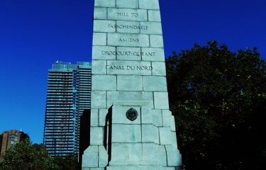 Mémrial soldats canadiens tombés