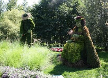 Cette oeuvre a été conçue et produite par le Jardin botanique du Nouveau-Brunswick. Photo : © Lucie Dumalo