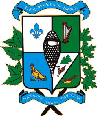 Armoiries de la municipalité de Sainte-Marthe.