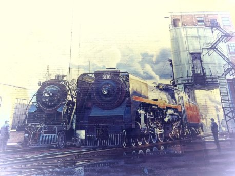 Locomotives anciennes. Photographie de Megan Jorgensen.