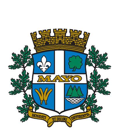 Armoiries de la municipalité de Mayo. Source de la photographie : Site Web de la municipalité, image libre de droits.