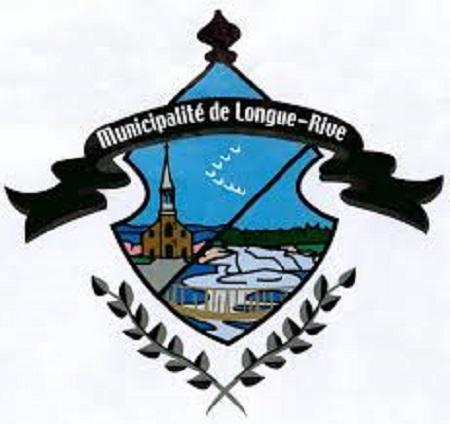 Logo de la municipalité de Longue-Rive. Image libre de droits.
