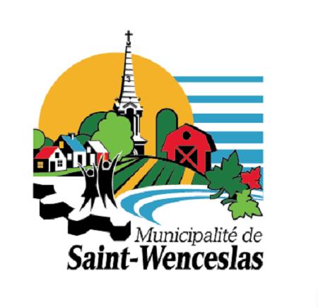 Logo de la municipalité de Saint-Wenceslas. Image libre de droits.