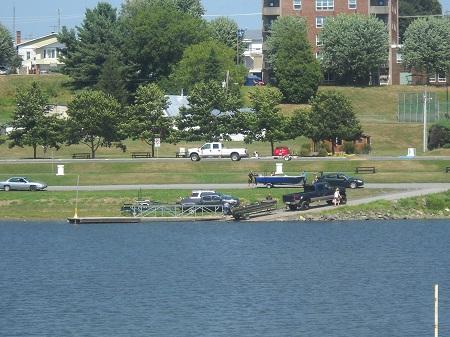 Rampe de mise à l'eau. Source de la photographie: Site Web de Pierreville.