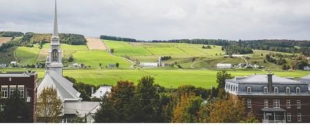 Vue panoramique de Saint-Joseph-des-Érables. Source de la photographie : Site Web de la municipalité.