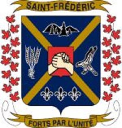 Armoiries de Saint-Frédéric. Image libre de droits, source : Site Web de la municipalité.