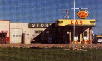 Corner Gas. Photographie libre de droits.