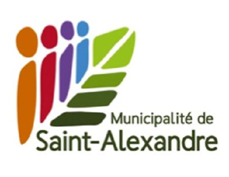 Logo de la municipalité de Saint-Alexandre. Source de l'image : Site Web de Saint-Alexandre, image libre de droits.