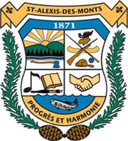 Armoiries de Saint-Alexis-des-Monts. Image libre des droits.