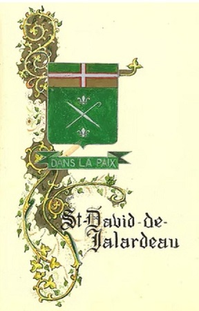 Armoiries de Saint-David-de-Falardeau. Source de l'image : Site Web de la municipalité, image libre de droits.