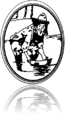 Conçu par l'artiste graphique Steven Grondin, le logo évoque l'importance de l'extraction aurifère dans son développement tout en faisant référence à sa grande superficie boisée et la présence d'une chapelle anglicane en son sol.