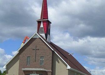 Église de Destor. Source de l'image: ville.rouyn-noranda.qc.ca.