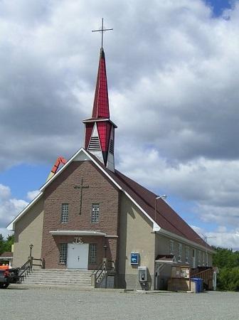 Église de Destor. Source de l'image: ville.rouyn-noranda.qc.ca