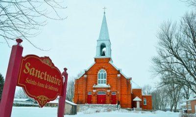 Sanctuaire de Sainte-Anne-de-Sabrevois. Source de l'image : Site Web de la municipalité.