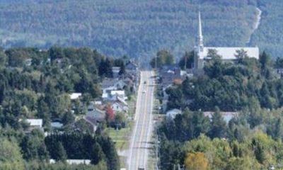 Vue panoramique de Saint-Théophile. Source de l'image : Site Web de la municipalité de Saint-Théophile.