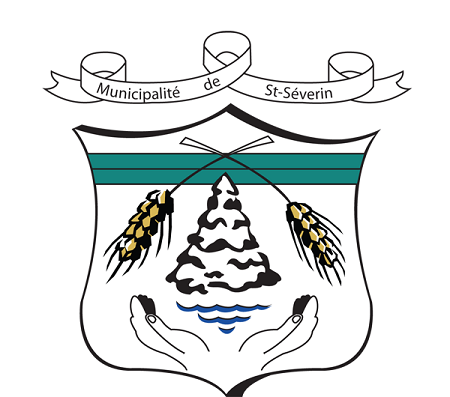 Anciennes armoiries de Saint-Séverin. Source de l'image : Site Web de la municipalité.
