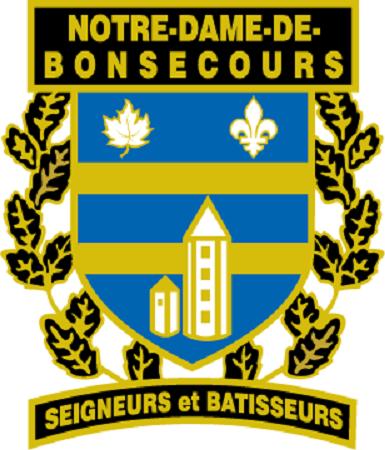 Armoiries de Notre-Dame-de-Bonsecours. Source de l'image : Site Web de la municipalité.