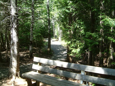 Le parc du Centre Multi Récréatif. Source de l'image : Site Internet de Saint-Siméon. Image libre de droits.