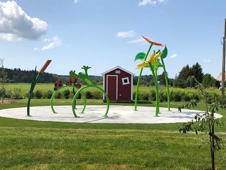 La municipalité de Saint-Nazaire a aménagé des jeux d'eau dans le quartier Boréal.