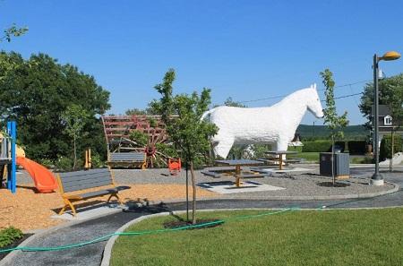 Parc municipal de Saint-Séverin de Beauce. Source de la photographie : Site Internet de la municipalité.