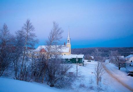 Sainte-Hélène-de-Chester en hiver. Source de la photographie : Site Web de la municipalité.
