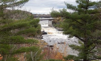 Chutes Maddington du belvédère à Maddington Falls.. Source de la photo : commons.wikimedia.org/wiki/File:Chutes_Maddington.jpg. Auteur : Fralambert.