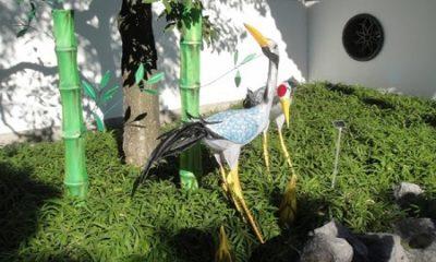Égarement de la raison démontré par les ridicules des sciences incertaines dire en sortant de chez une maîtresse : « Il n'y a encore rien de plus beau que ma femme. » (Charles Fourier Tableau analytique du cocuage). Deux hérons dans le Jardin des Rêves du Jardin botanique de Montréal. Photographie de Megan Jorgensen.