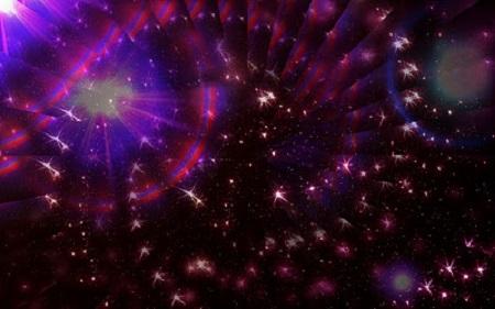 Parmi les choses répandues au hasard, le plus beau : le cosmos. L'harmonie invisible plus belle que la visible. La Nature aime se cacher (Héraclite d'Ephèse, philosophe grec). Illustration par Megan Jorgensen.