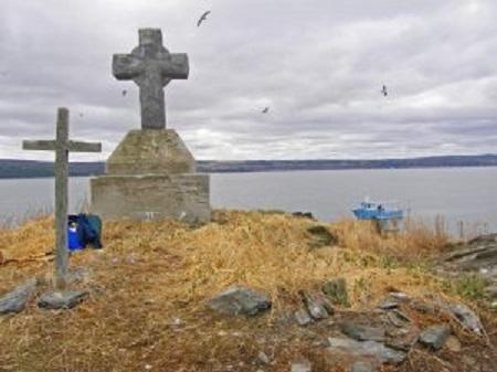 La croix des îles Razades. Source de la photo : Site Web de la municipalité de Notre-Dame-des-Neiges.