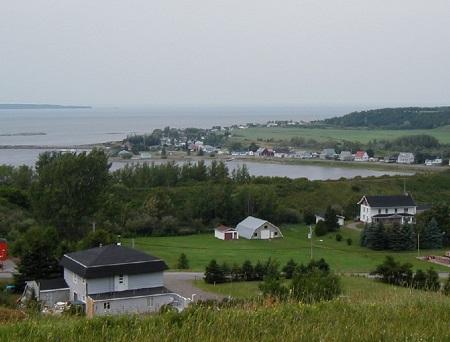 Vue panoramique de la municipalité de Notre-Dame-des-Neiges. Source de la photo : Site Web de la municipalité.
