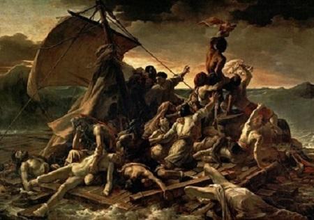 Le radeau de la Méduse. Peinture par Théodore Géricault.