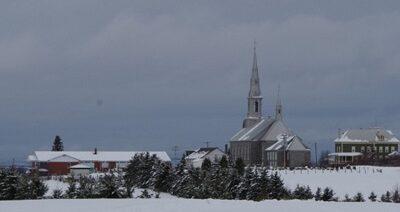 Saint-Évariste-de-Forsyth en hiver. Source de la photo : Site Web de la municipalité.