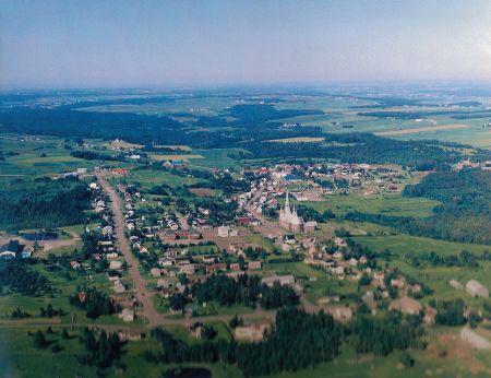 Vue aérienne de Saint-Lazare-de-Bellechasse. Source de la photographie : Site Internet de la municipalité.