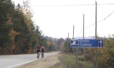 La route menant vers les chutes Coulonge. Source de la photo : Site Web de la municipalité de Fort-Coulonge.