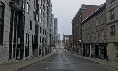La rue St-Denis à Montréal. Photo de GrandQuebec.com.