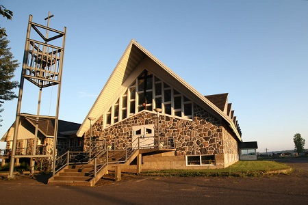 Église paroissiale de Saint-Pie-de-Guire. Source de la photo : Site Internet de la municipalité.