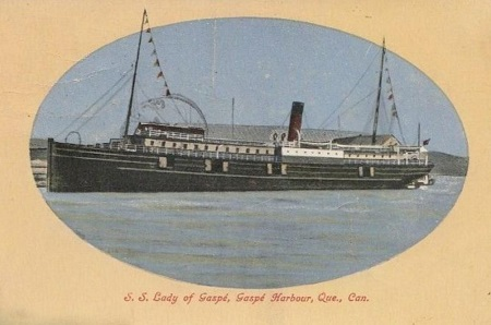 Lady of Gaspé, ancienne carte postale de 1911.