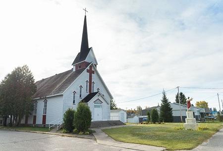 Église de la municipalité de Lamarche. Source de la photo : Site web de la municipalité.