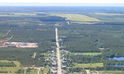 Vue aérienne de la municipalité de Saint-Ludger-de-Milot. Auteur : Sylvain Duchesne. Image libre de droits.