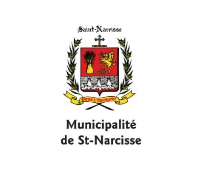 Armoiries de la municipalité de Saint-Narcisse. Source de l'image : Site Web de la municipalité.