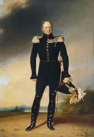 Alexandre 1er, portrait par George Dawe. image libre de droits.