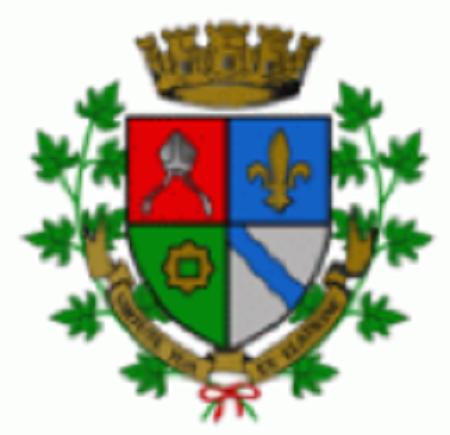 Armoiries de la ville de Saint-Césaire. Source de l'image : Site web de la ville de Saint-Césaire.