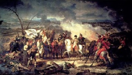 La Bataille d'Austerlitz (1810), château de Versailles. Peinture de François Gérard. Image libre de droits.
