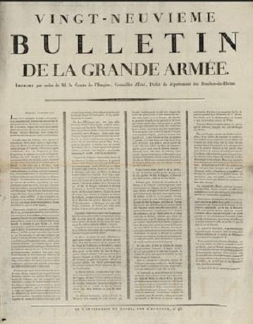 Le 29e Bulletin de la Grande Armée. Image libre de droits.