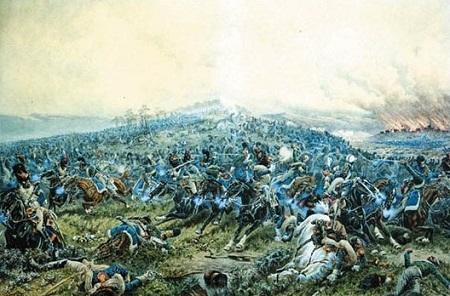 Bataille de Shengraben (ou d'Hollabrunn). Par K. Bujnitsky (1898).