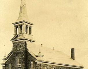 Église paroissiale historique de Saint-Boniface. Image libre de droits.