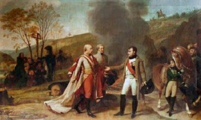 Antoine-Jean Gros (1771–1835). Entrevue de Napoléon Ier et de François II après la bataille d'Austerlitz.